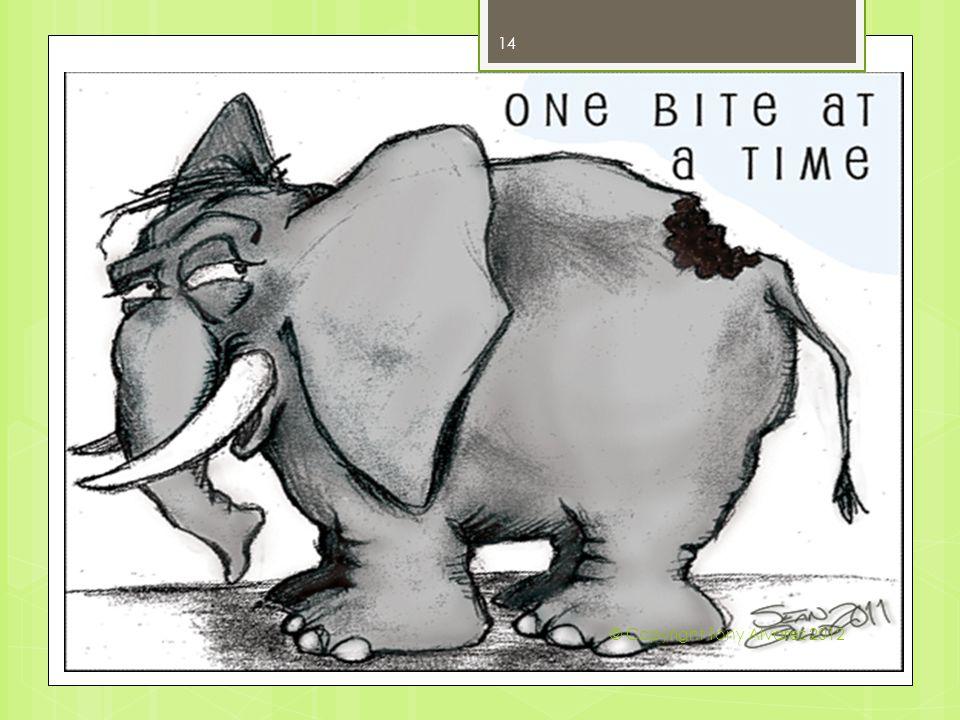 How do you Eat an Elephant 14 © Copyright Tony Alvarez 2012