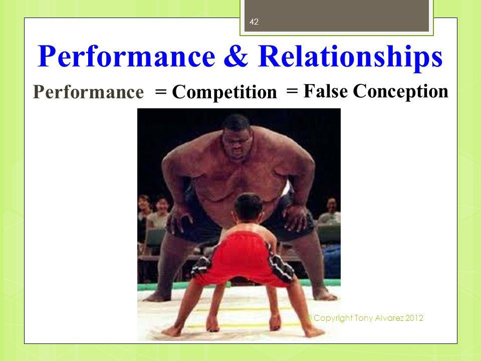 Performance & Relationships Performance 42 = Competition = False Conception © Copyright Tony Alvarez 2012