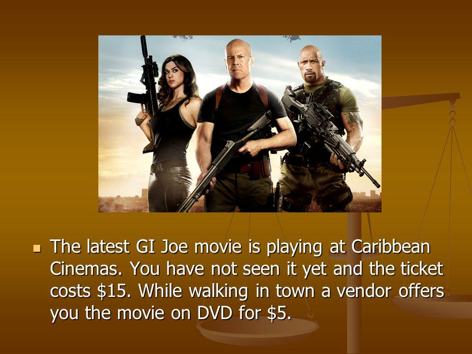 The latest GI Joe movie is playing at Caribbean Cinemas.