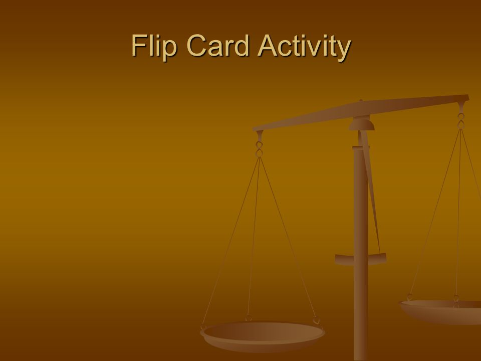 Flip Card Activity