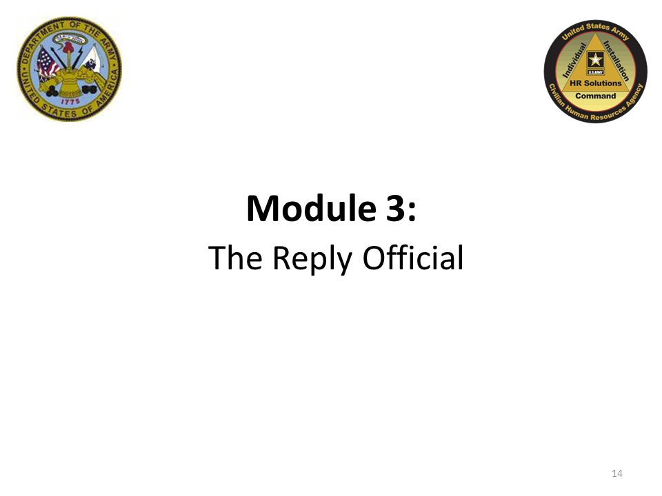 Module 3: The Reply Official 14