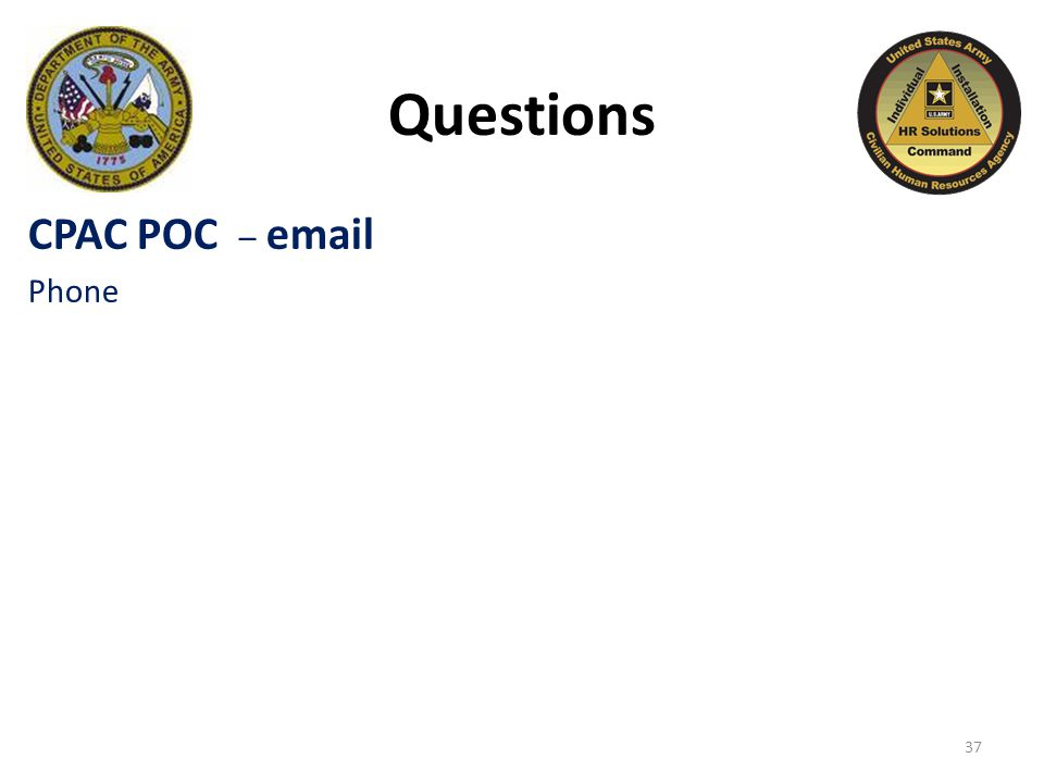 37 Questions CPAC POC – email Phone