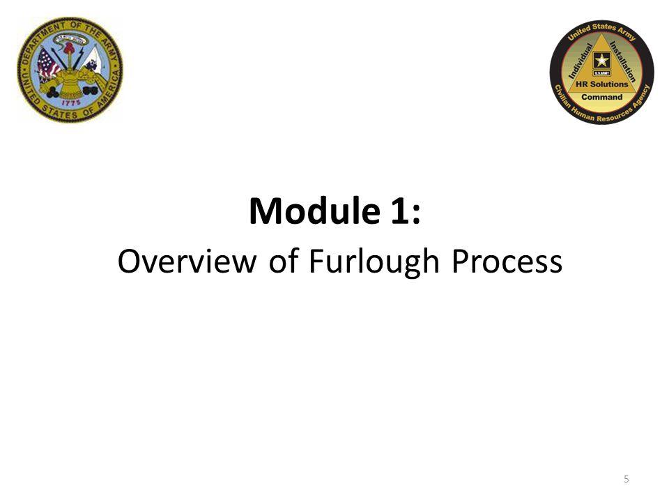 Module 1: Overview of Furlough Process 5