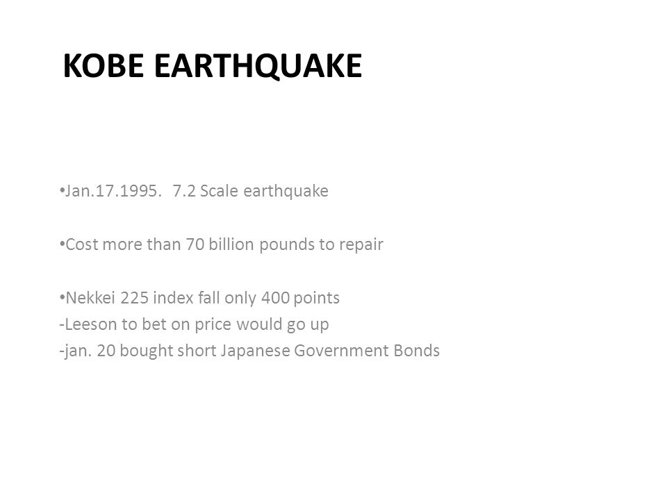 KOBE EARTHQUAKE Jan.17.1995.