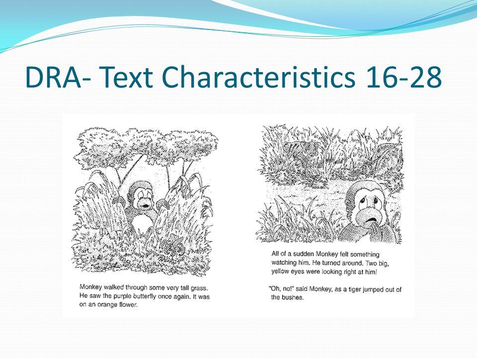 DRA- Text Characteristics 16-28