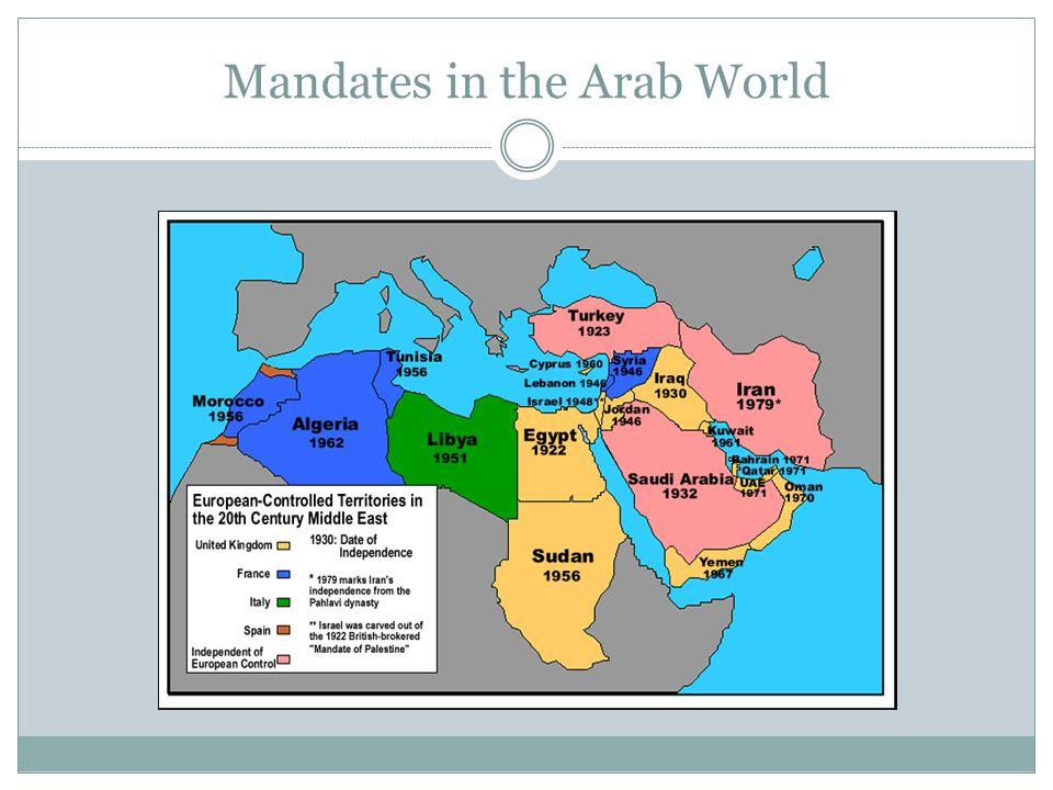 Mandates in the Arab World