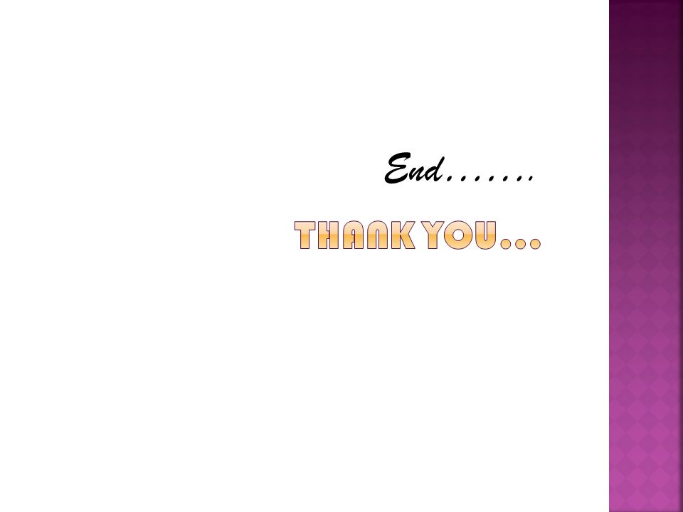End…….