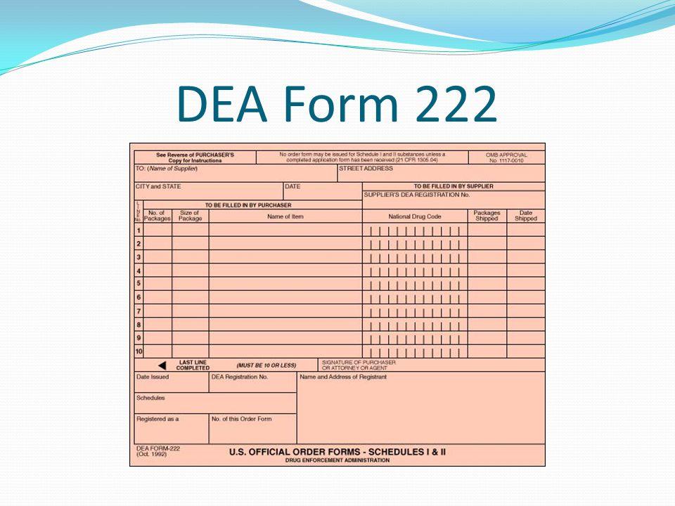 DEA Form 222