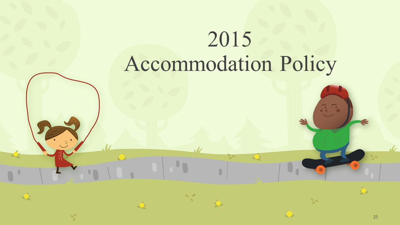 2015 Accommodation Policy 25