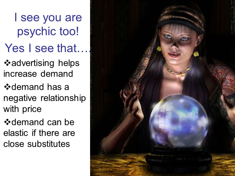 I see you are psychic too! Yes I see that….  advertising helps increase demand  demand has a negative relationship with price  demand can be elasti