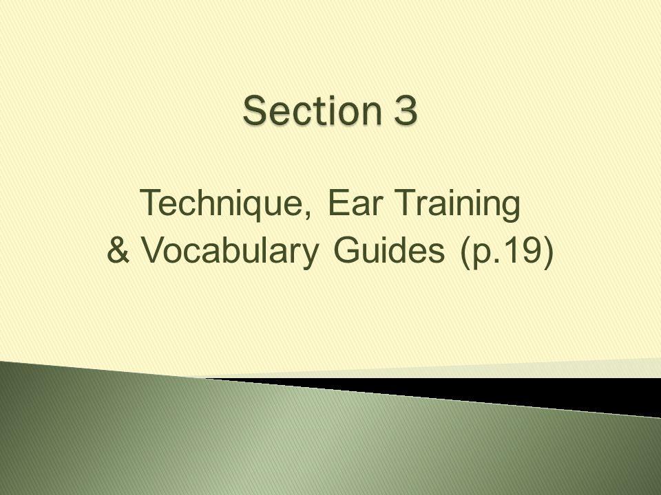 Technique, Ear Training & Vocabulary Guides (p.19)