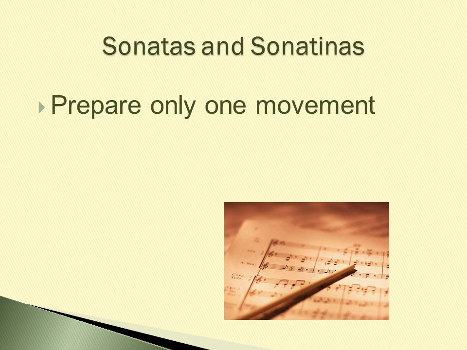  Prepare only one movement
