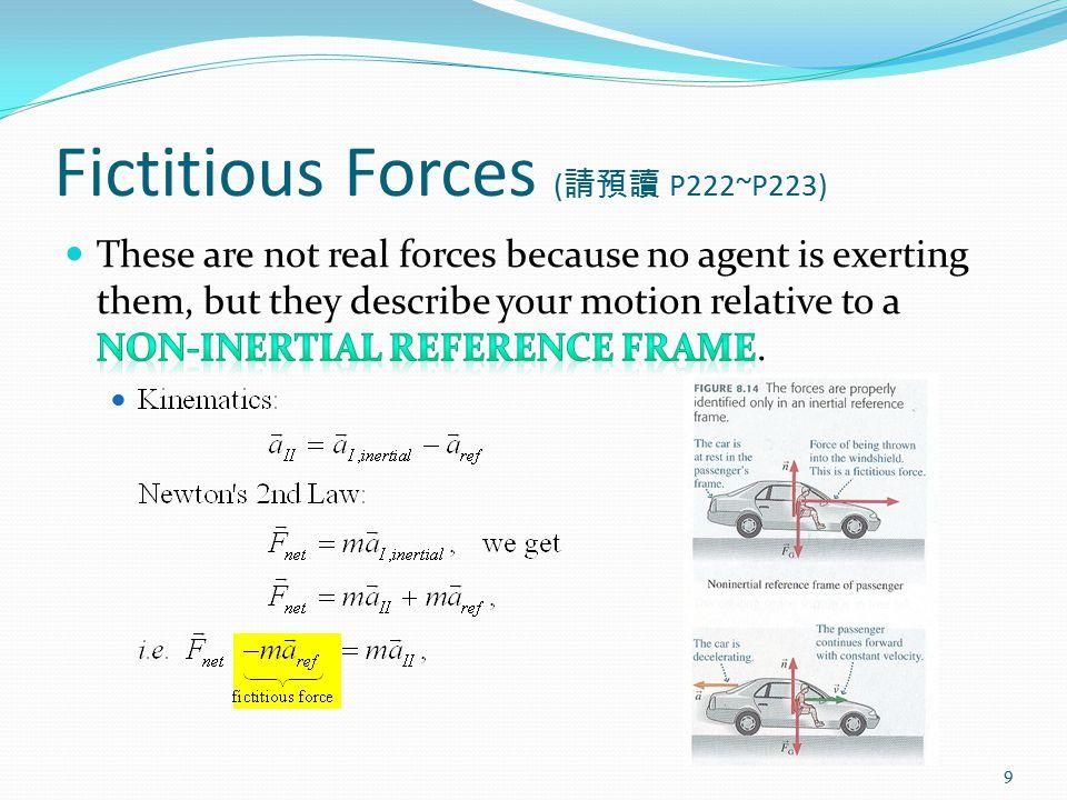 Fictitious Forces ( 請預讀 P222~P223) 9