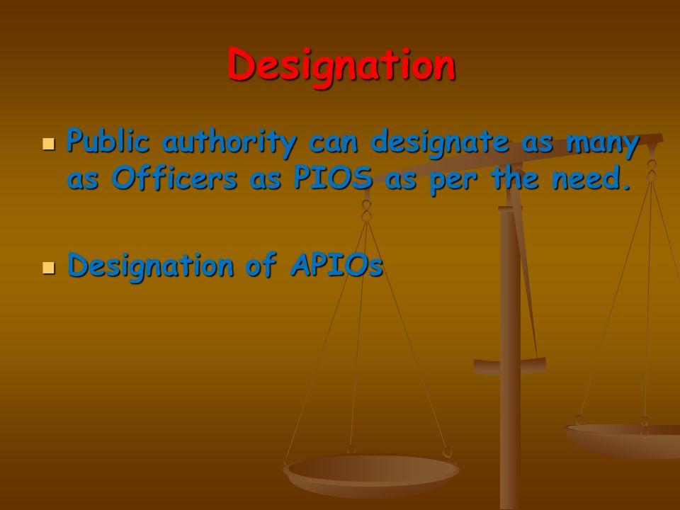 Request for information Request for information can be made to the following:- PIO PIO APIO APIO