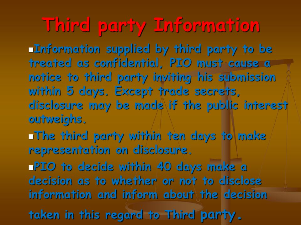 Third party to whom notice is given may prefer an appeal within 30 days from the receipt of such order.