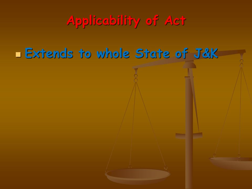 Key Provisions of the Act Key Provisions of the Act