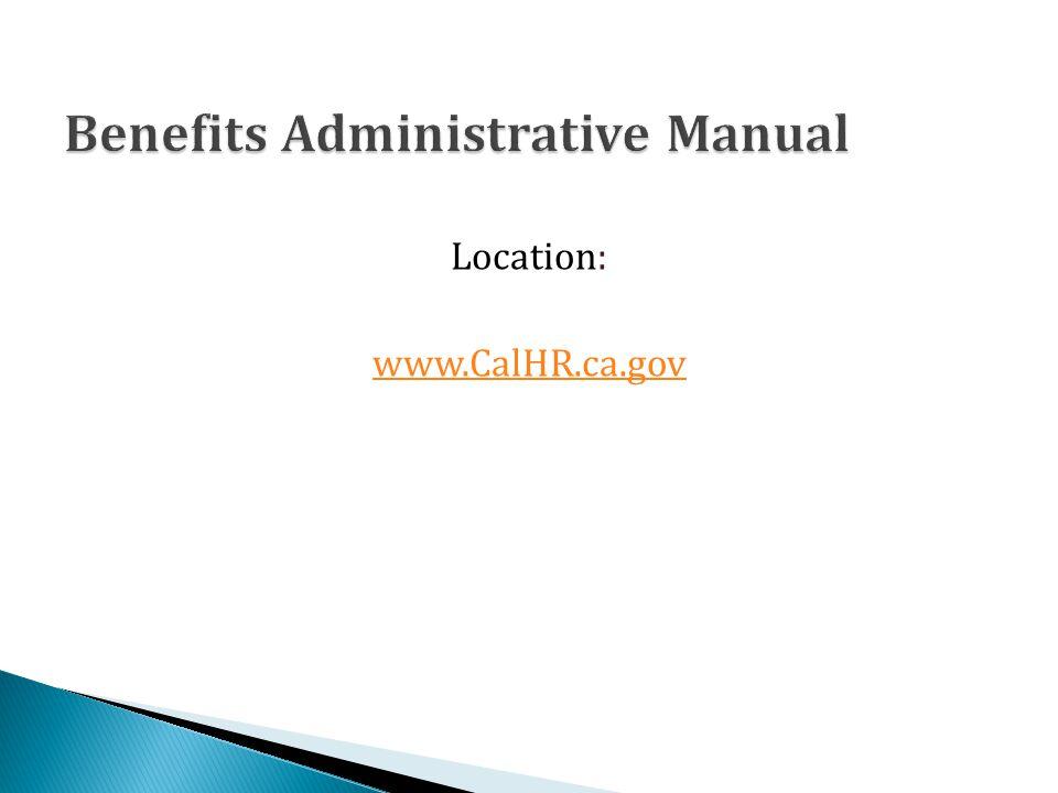 Location: www.CalHR.ca.gov