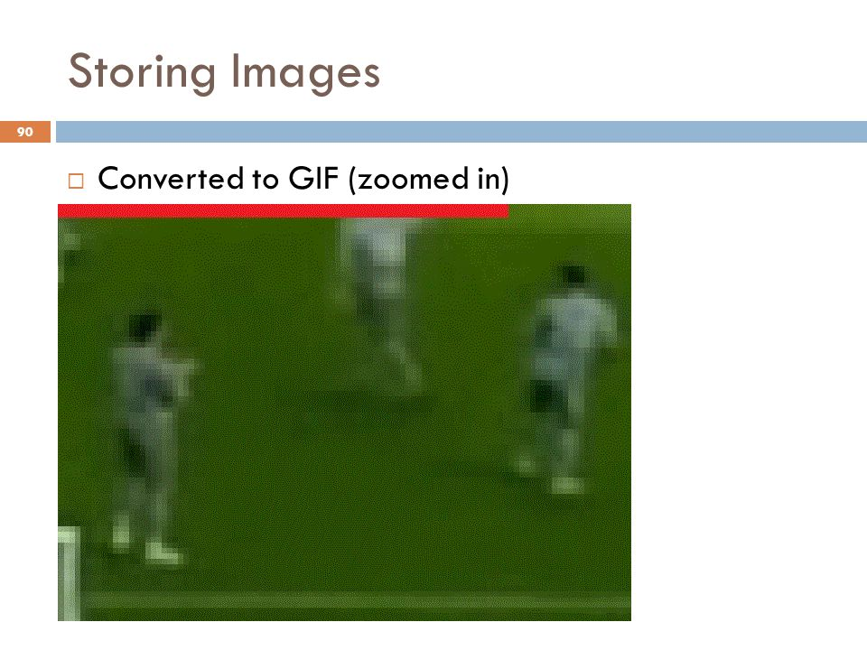 90 Storing Images  Converted to GIF (zoomed in)