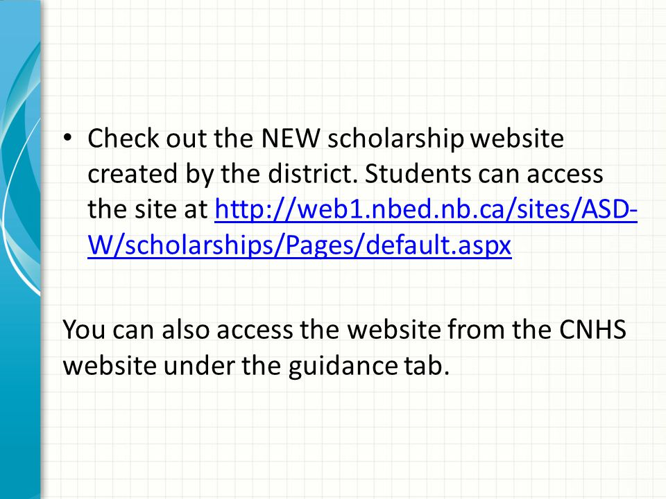 Review the Carleton North High School Scholarships and Bursaries Brochure.