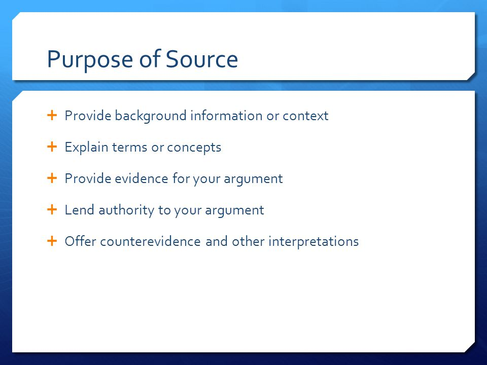 Types of Electronic Sources  Abstract: summary of a work  Excerpt: first few sentences/paragraphs  Full text  PDF (exact copy of print document)**  HTML (text file, not paginated)
