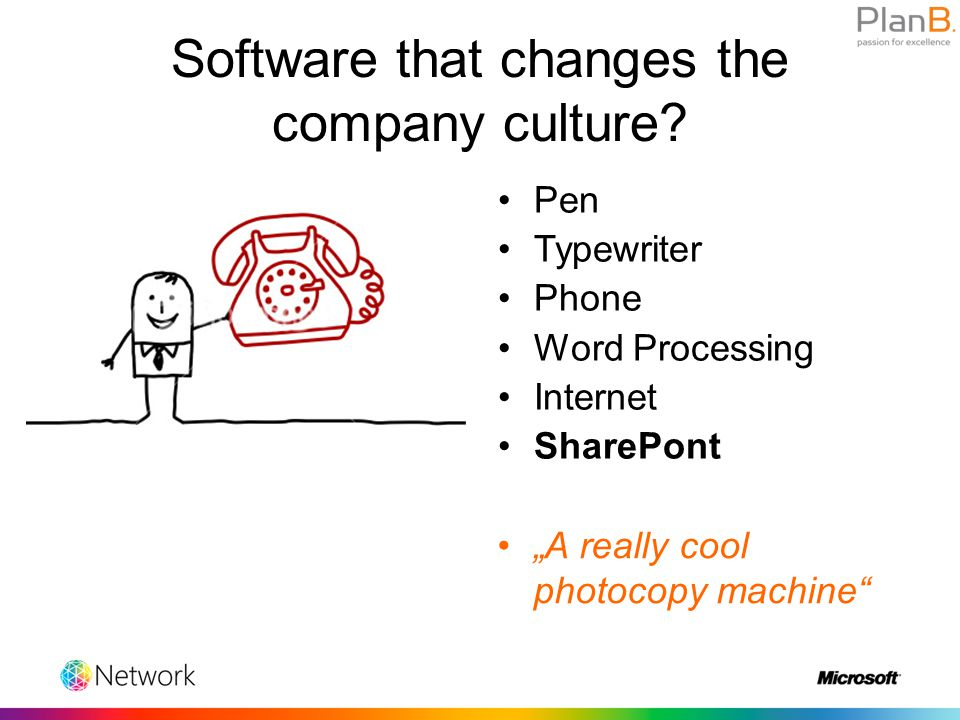 Software that changes the company culture.