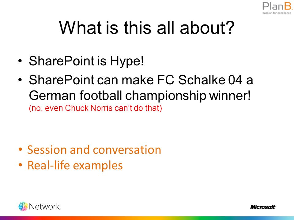 """""""SharePoint is Facebook for companies!"""