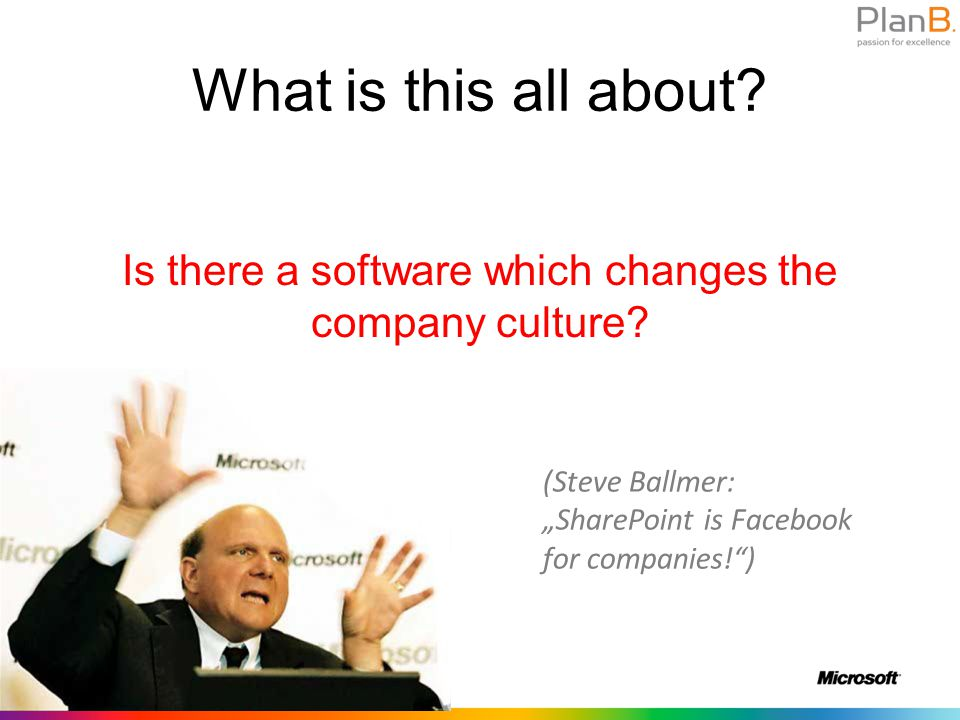 What is this all about. Is there a software which changes the company culture.