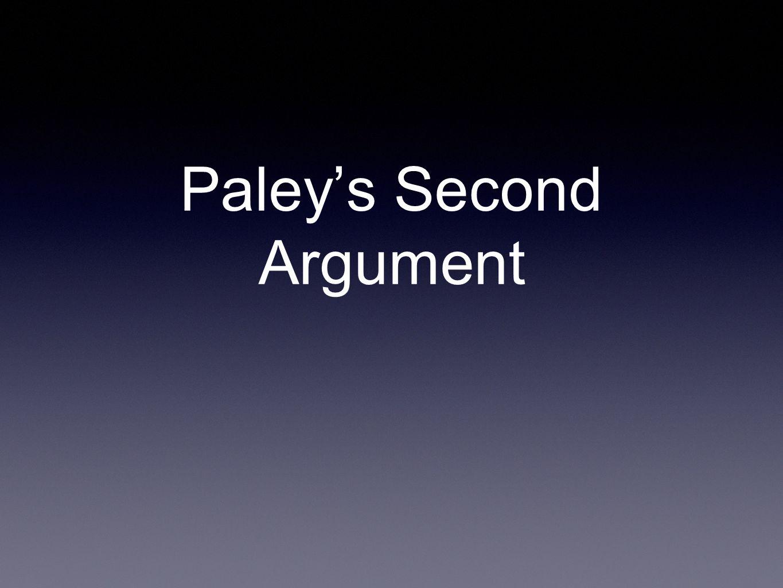 Paley's Second Argument