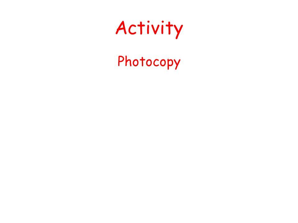 Activity Photocopy