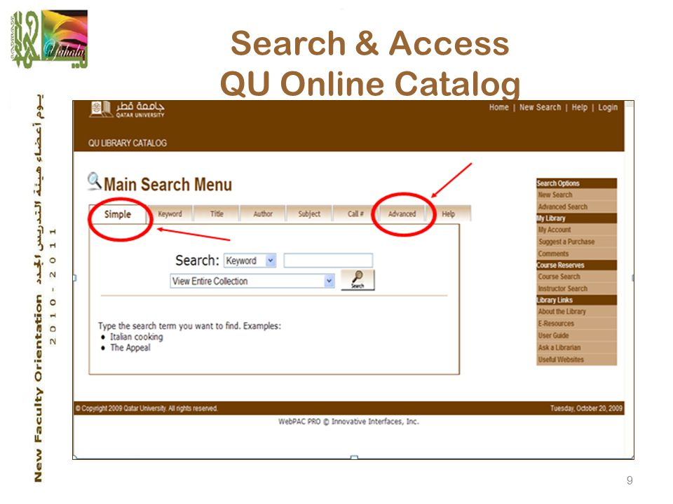 9 Search & Access QU Online Catalog