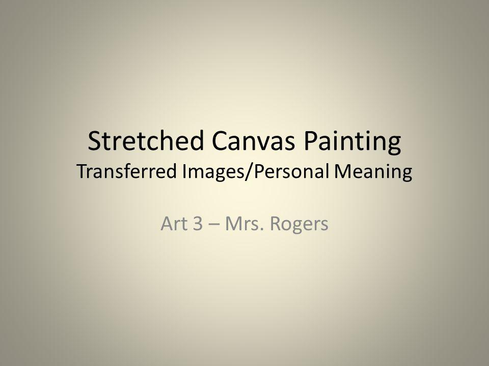 Pam Wellington Transfer image painting