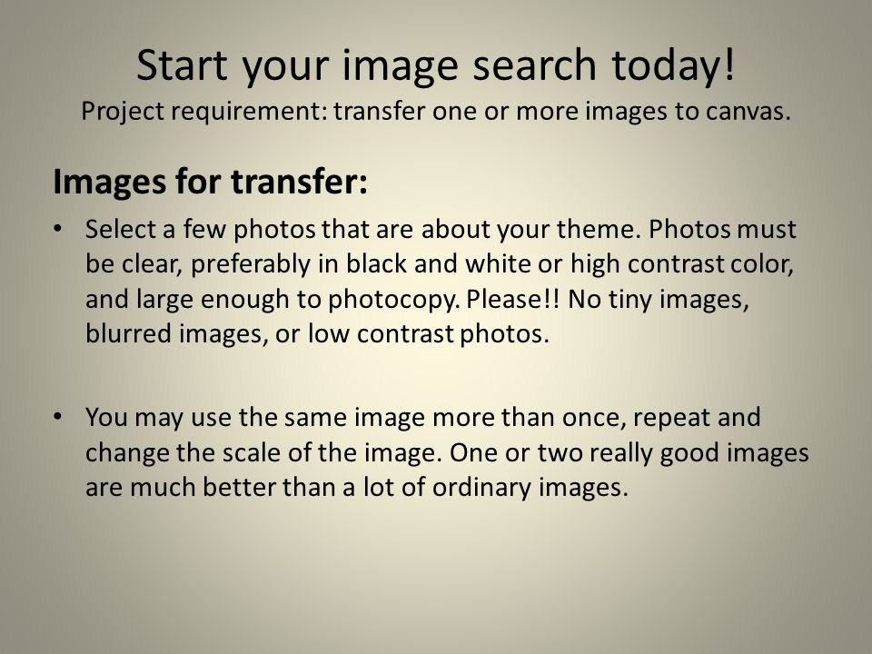 Start your image search today. Project requirement: transfer one or more images to canvas.