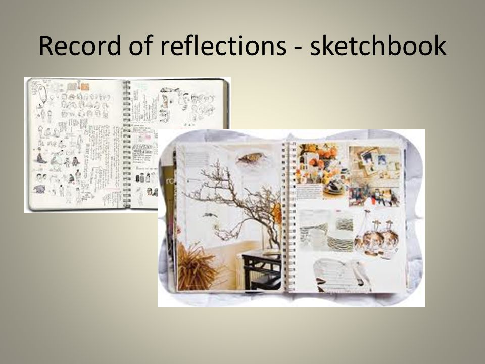 Record of reflections - sketchbook