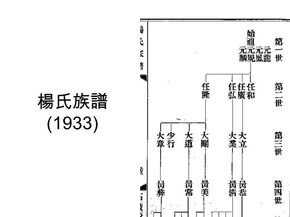 楊氏族譜 (1933)