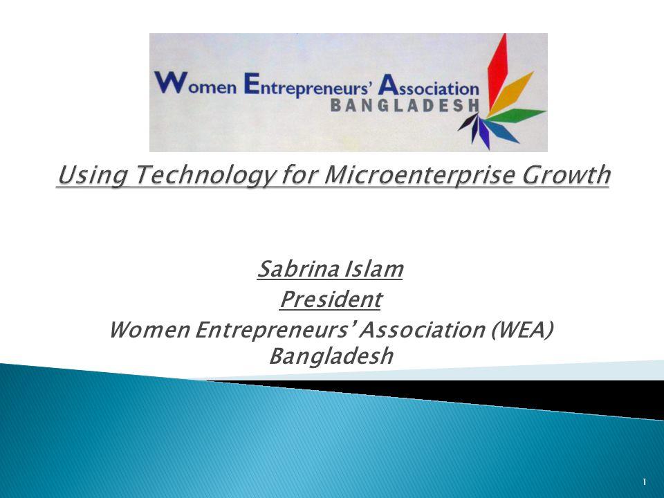 Sabrina Islam President Women Entrepreneurs' Association (WEA) Bangladesh 1