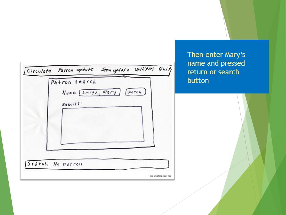 Then enter Mary's name and pressed return or search button