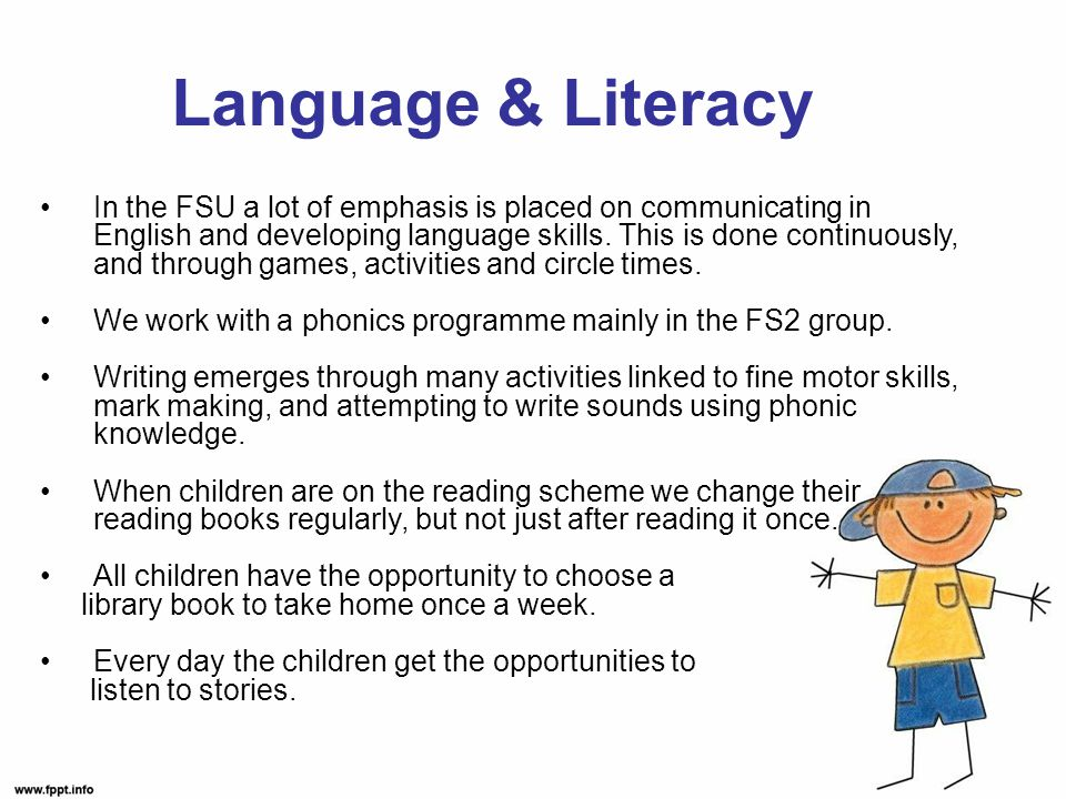 In the FSU a lot of emphasis is placed on communicating in English and developing language skills.