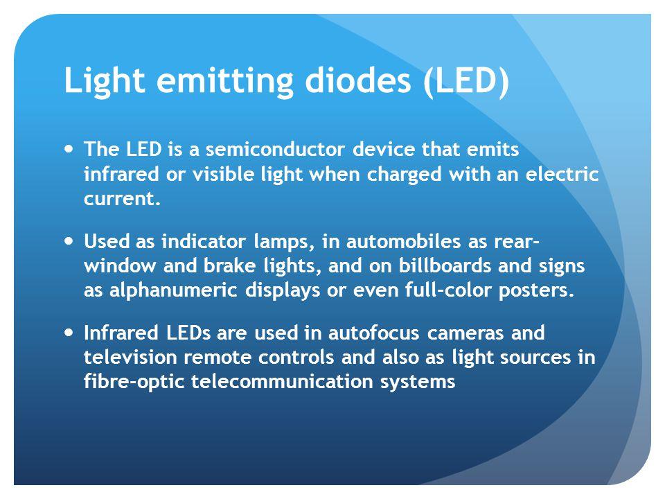 Sources http://www.wikipedia.com http://www.stanford.edu/class/ee122/Handouts/5- optoelectronics.pdf http://www.burnhams.com/fiber_optics_glossary.html http://www.olympusfluoview.com/theory/laserintro.html http://www.nrel.gov/ncpv/ http://solarenergyfactsblog.com http://www.thorlabs.com http://www.cleanenergyactionproject.com/CleanEnergyActionPr oject/Home.html