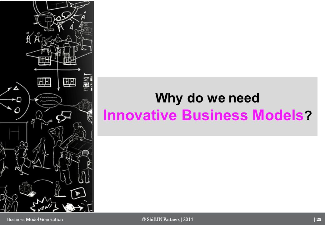 | 23 Business Model Generation© ShiftIN Partners | 2014 Why do we need Innovative Business Models ?