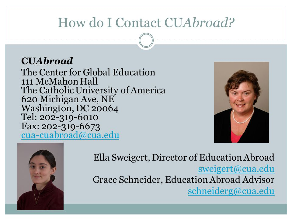 How do I Contact CUAbroad.