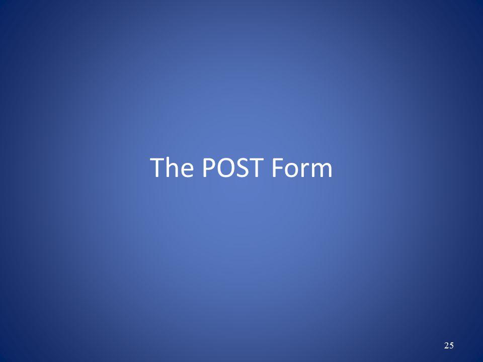 POST Form