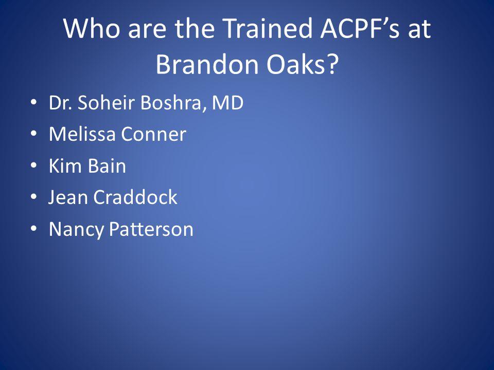 Why an ACPF.