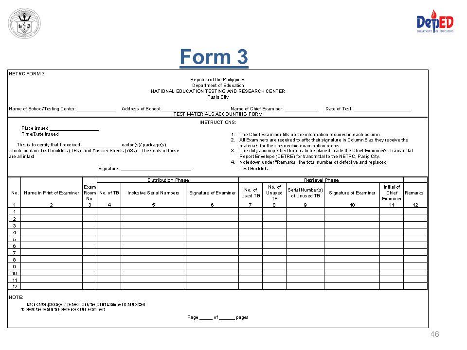 Form 3 46