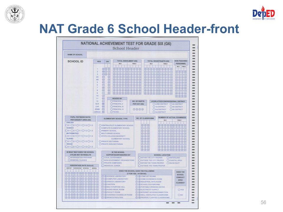 NAT Grade 6 School Header-front 56