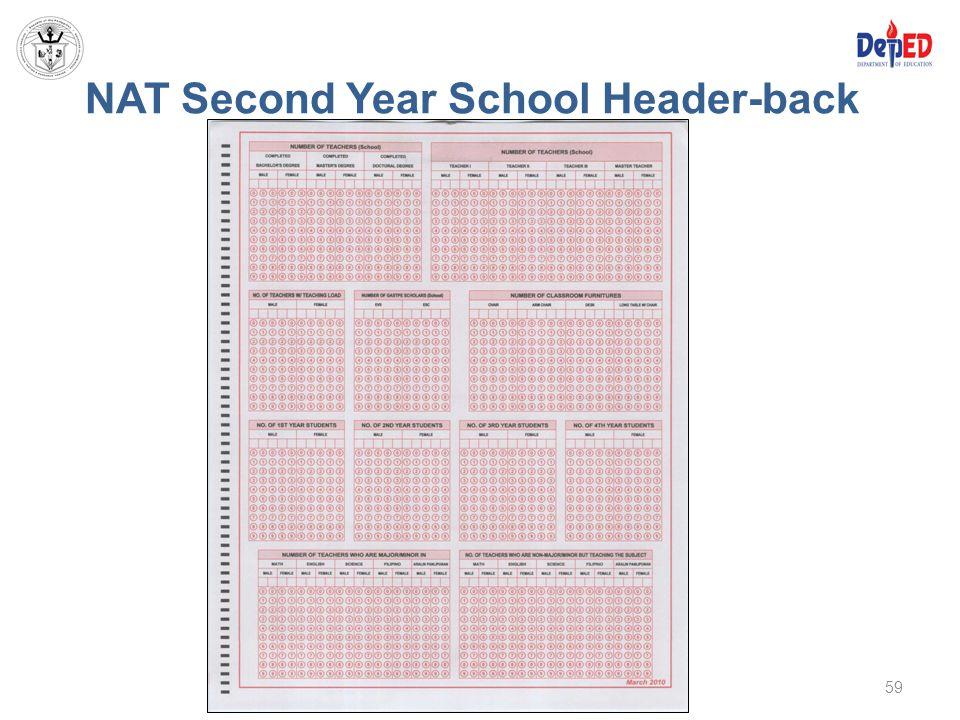 NAT Second Year School Header-back 59