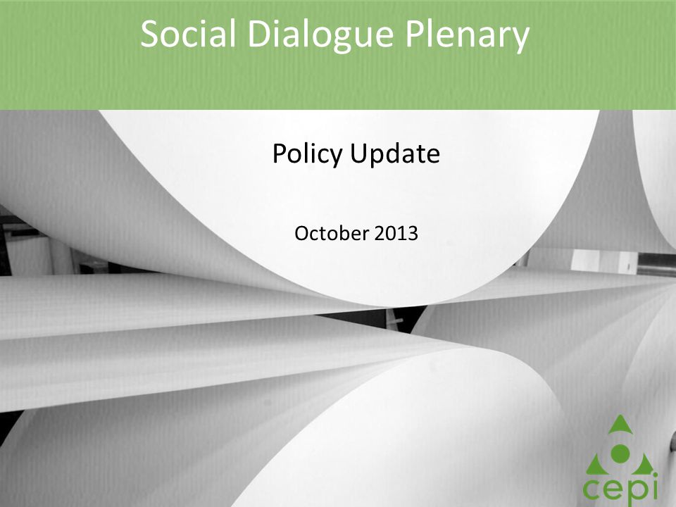 Social Dialogue Plenary Policy Update October 2013