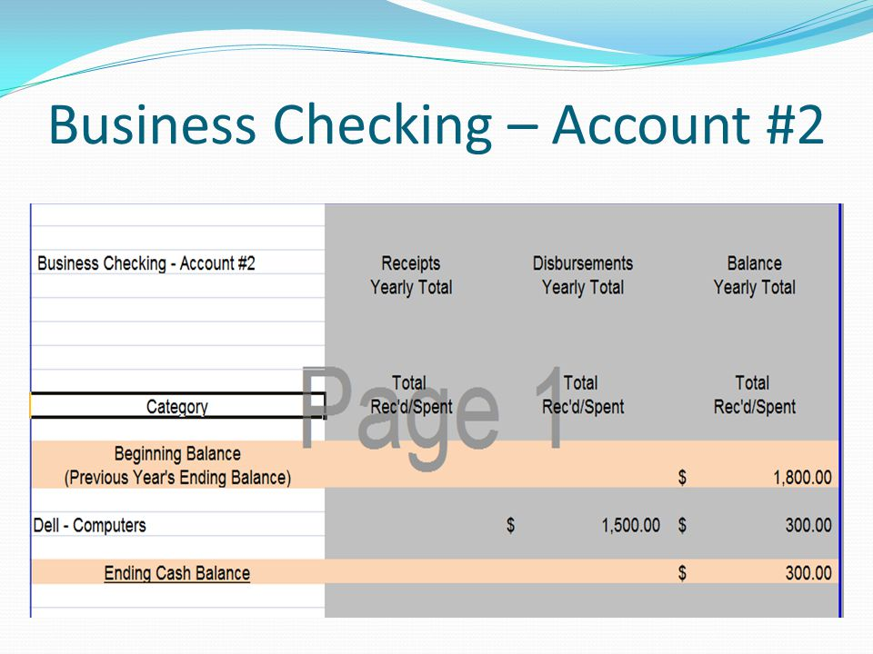 Business Checking – Account #2