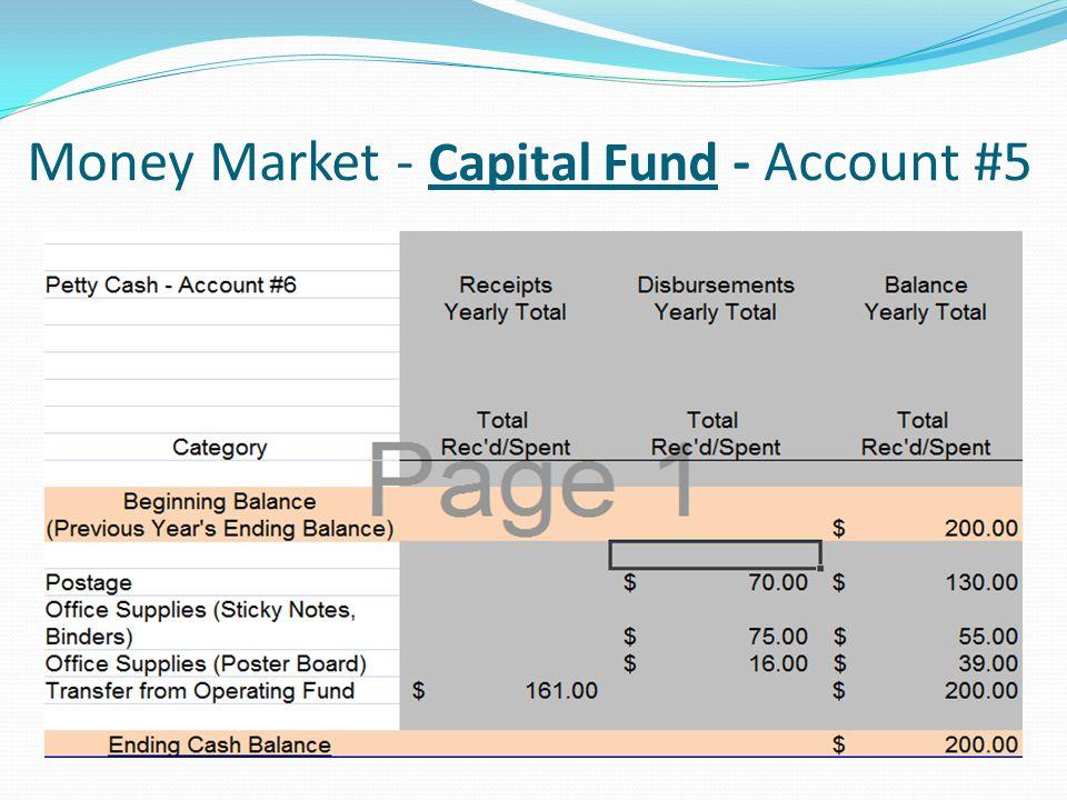 Money Market - Capital Fund - Account #5