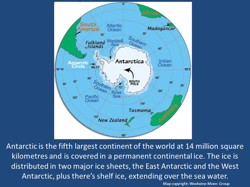 Antarctic Is The Fifth Largest Continent Of The World At - What is the biggest continent