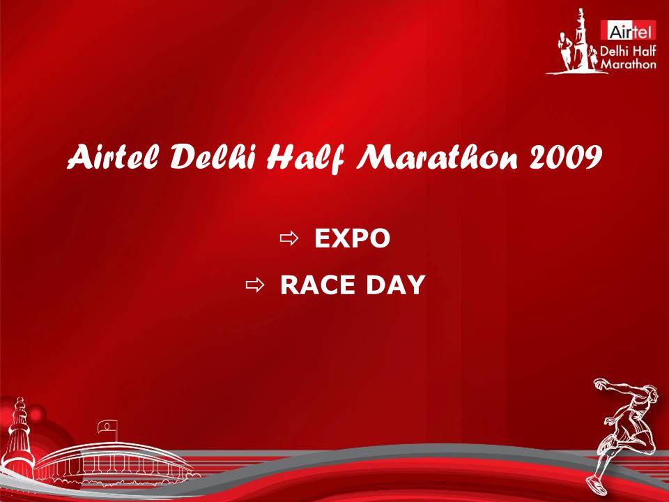 Airtel Delhi Half Marathon 2009  EXPO  RACE DAY